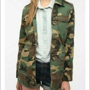 Urban outfitters army fatigue coat